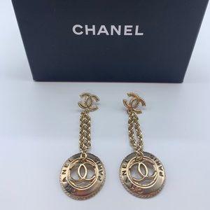 Chanel Gold Dangle Earrings